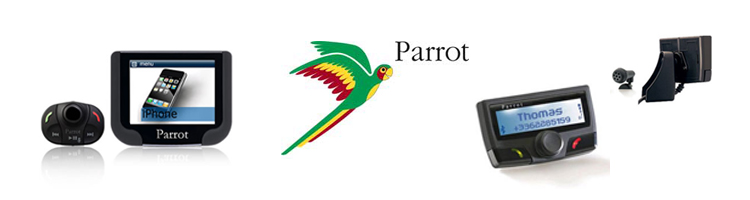 This is a image of the Parrot Carkit range with their logo please click on it for more information